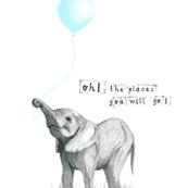 elephant - nursery quote pillow