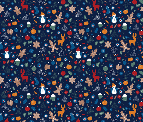 Gingerbread fabric by motifunique on Spoonflower - custom fabric