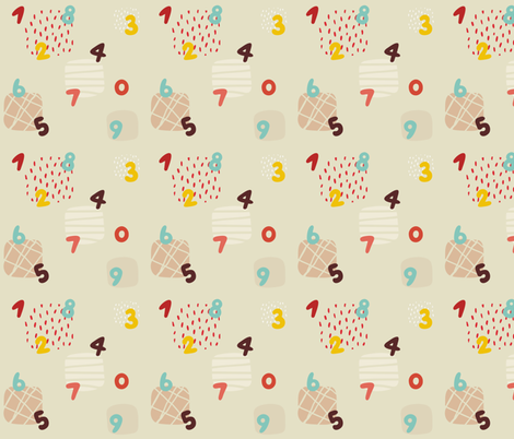 Numbers and squares fabric by toy_joy on Spoonflower - custom fabric
