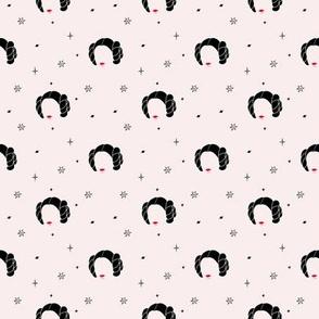 Star Princess / Black & Pink faces