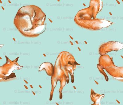 Happy Fox / Blue