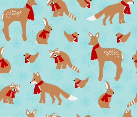 gingerbread forest  friends fabric by forestdreamsdesign on Spoonflower - custom fabric