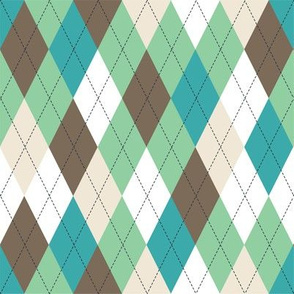Argyle - Mint Brown