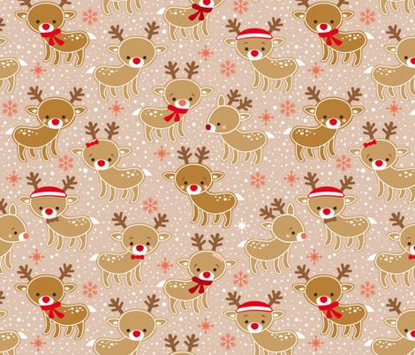 gingerbread reindeer fabric by heleenvanbuul on Spoonflower - custom fabric