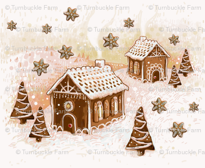 gingerbread landscape