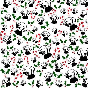 Vizsla dog print Christmas fabric and gift wrap