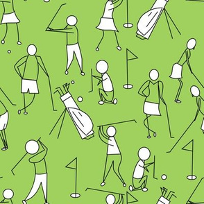 stick figure golf green