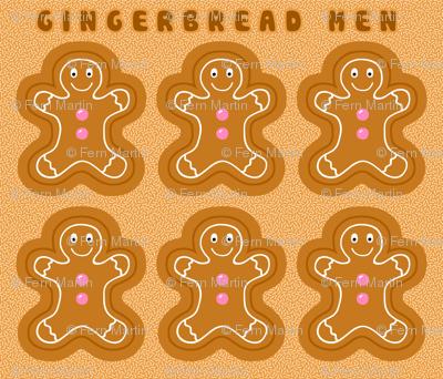 Cut & Sew Gingerbread Softies