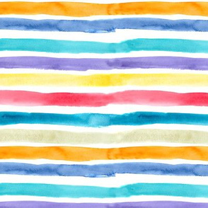 Colorful watercolor stripes