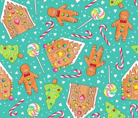 Rrrchristmas-gingerbread-and-candy-on-teal-150-21inch-wide-block-hazel-fisher-creations_contest163137preview