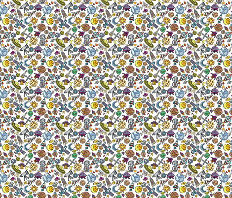 Simple space objects 4 fabric greenmountainfabric for Space mountain fabric