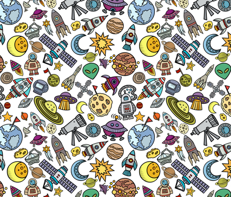Simple space objects 12 fabric greenmountainfabric for Space mountain fabric