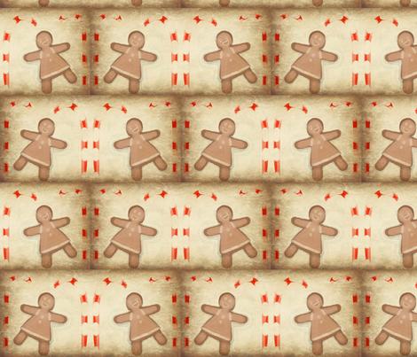gingerbread girls fabric by kaoutara on Spoonflower - custom fabric