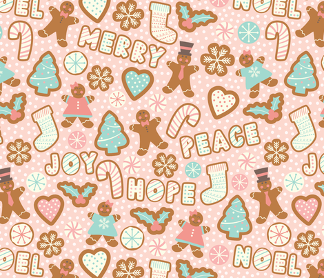 Merry Gingerbread fabric by taylorshannon on Spoonflower - custom fabric