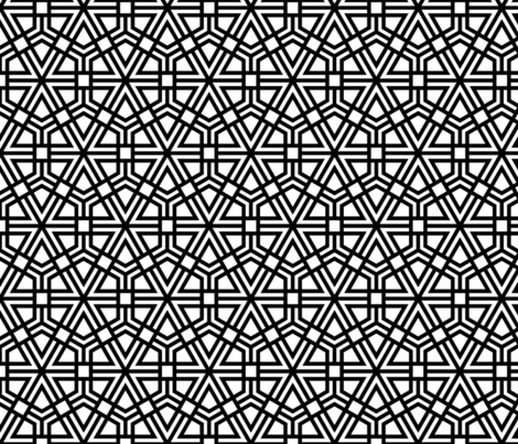 Triangles, Hexagons, Squares (thick) fabric by davidkaufman on Spoonflower - custom fabric
