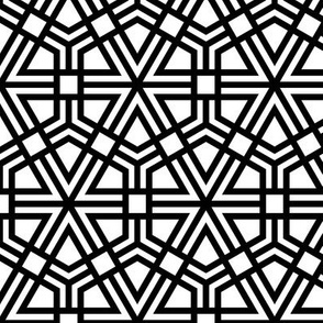Triangles, Hexagons, Squares (thick)