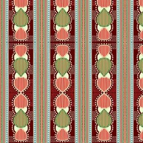 1970 striped bulb earthtones