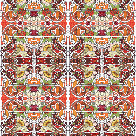Autumn Cheer fabric by edsel2084 on Spoonflower - custom fabric