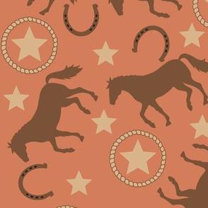 Horse Western Orange Large