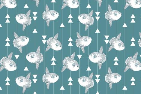 Sunfish (larger print) fabric by natelledrawsstuff on Spoonflower - custom fabric