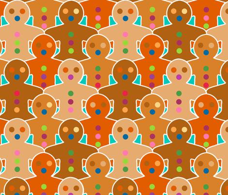 Gingerbread Army fabric by elramsay on Spoonflower - custom fabric