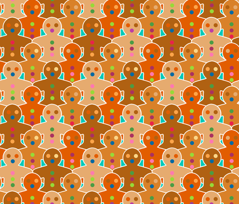 Gingerbread Army fabric by elramsay on Spoonflower - custom fabric