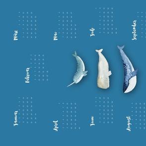 """Whale Squad"" TeaTowel Calendar 2018"