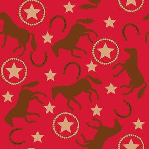 Horse Western Red Small