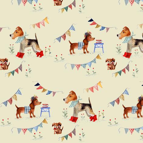 oldschool doggies_2 fabric by potyautas on Spoonflower - custom fabric