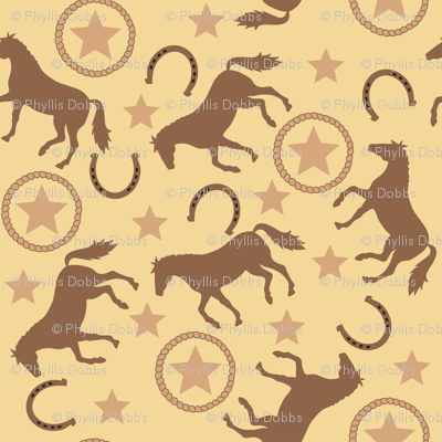 Horse Western Yellow Small