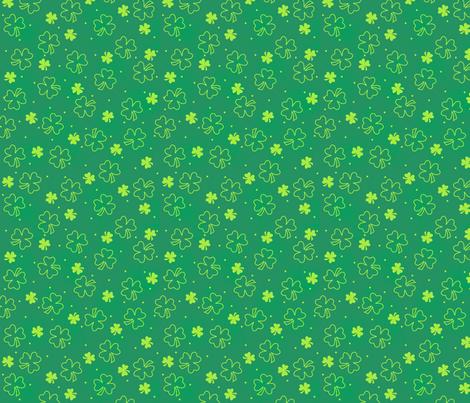 Shamrocks Green Lime Green fabric by phyllisdobbs on Spoonflower - custom fabric
