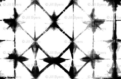 Shibori 13 - Black & White