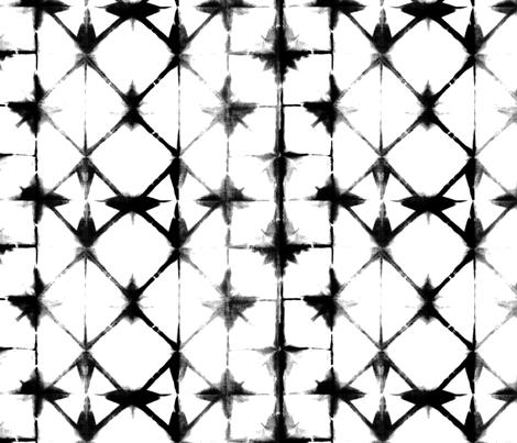 Shibori 13 - Black & White fabric by jillbyers on Spoonflower - custom fabric