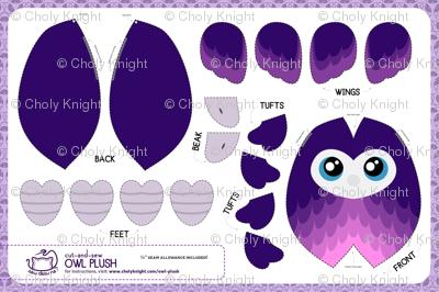 Cut & Sew Purple Owl Plush