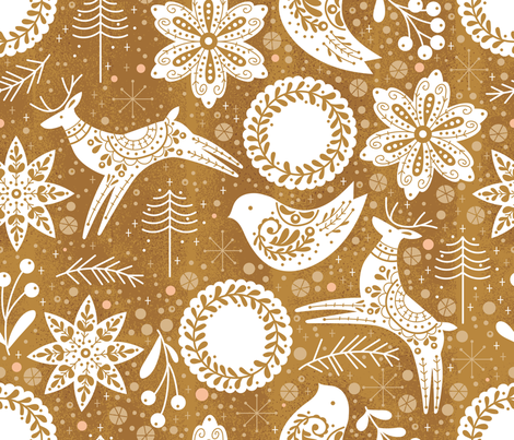 Gingerbread Forest  fabric by cynthiafrenette on Spoonflower - custom fabric