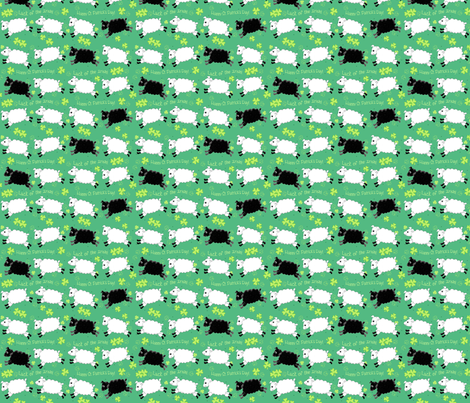 Counting Sheep Shamrocks small fabric by phyllisdobbs on Spoonflower - custom fabric