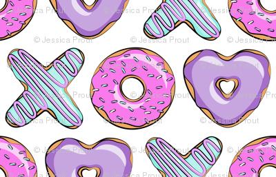 (jumbo scale) xo shaped donuts - multi