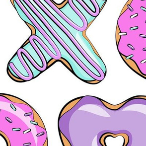 (jumbo scale) xo shaped donuts - multi