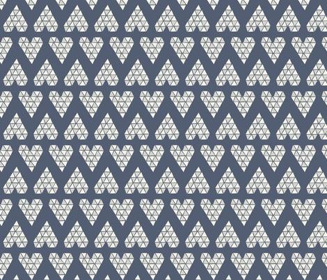 TRIANGLE-HEARTS grey fabric by aenne on Spoonflower - custom fabric