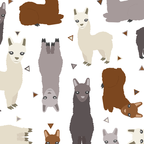 Alpaca Posse fabric by jannasalak on Spoonflower - custom fabric