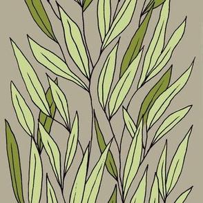 Leaf Column on Grey
