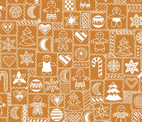 Iced Gingerbread fabric by playscalefabric on Spoonflower - custom fabric