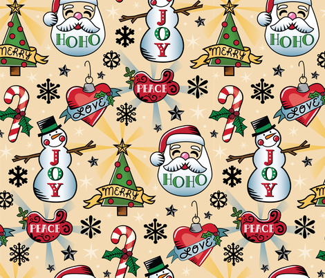 Xmas Ink fabric by designs_by_lisa_k on Spoonflower - custom fabric