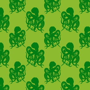 octopus green on green