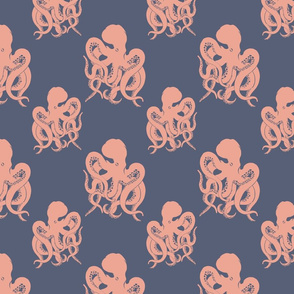 octopus nan red and blue pattern