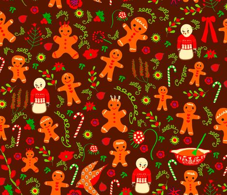 Ginger Dreams fabric by orangefancy on Spoonflower - custom fabric