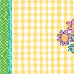 Three Flowers Tea Towel