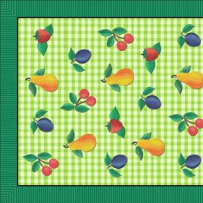 Tossed Fruit Tea Towel