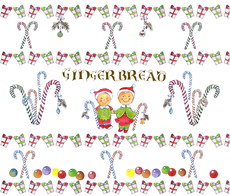Gingerbread Babies fabric by kmadson_studio on Spoonflower - custom fabric