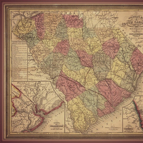 South Carolina map, FQ